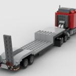 Lego Moc Semi Truck City Scale By Klintisztvud Rebrickable Build With Lego