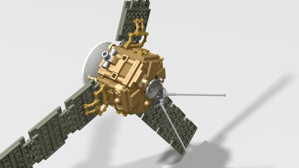 LEGO MOC7779 Juno Space Probe Space 2017 Rebrickable Build with LEGO