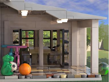 lego moc covered patio addition