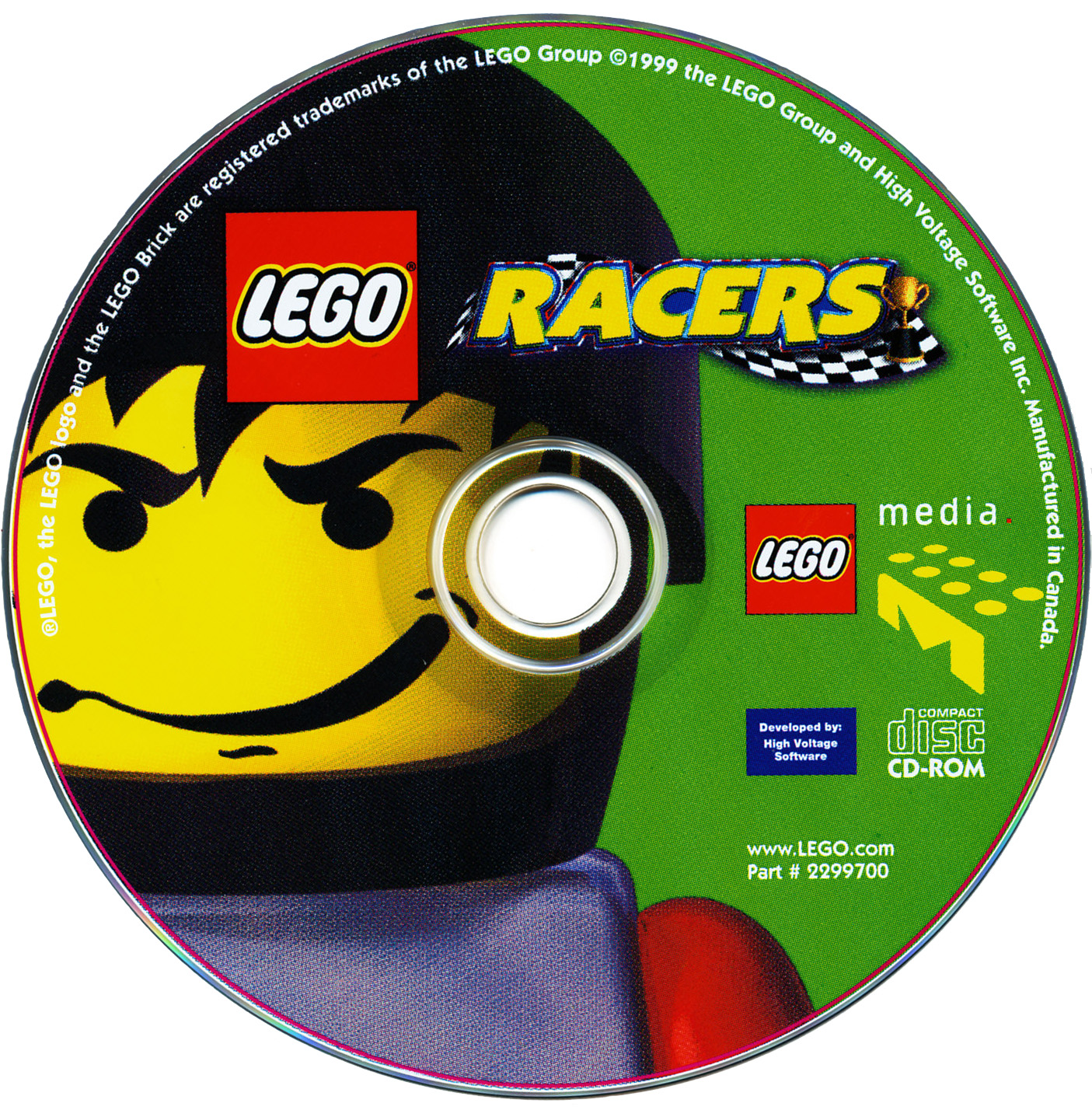 LEGO Racers 1999 release disc cover art