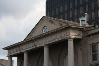 Details on the portico.