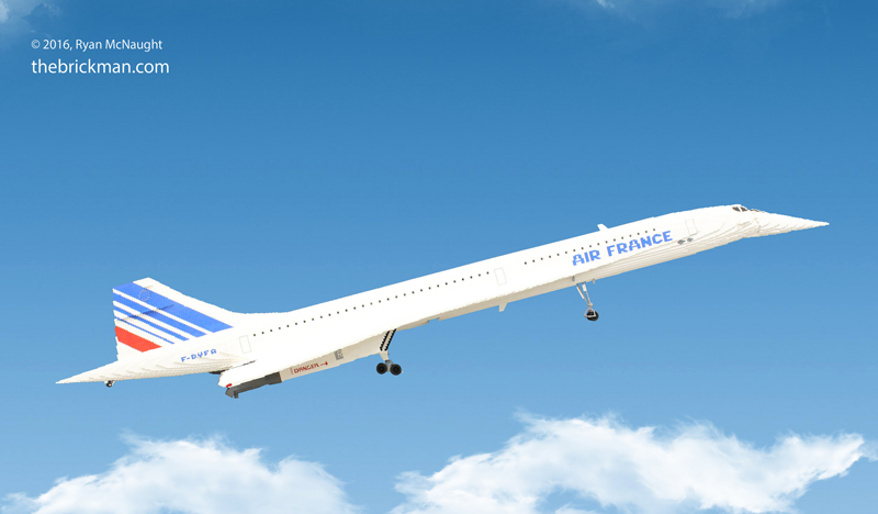 This 65,000-Piece Custom LEGO Concorde Will Amaze You