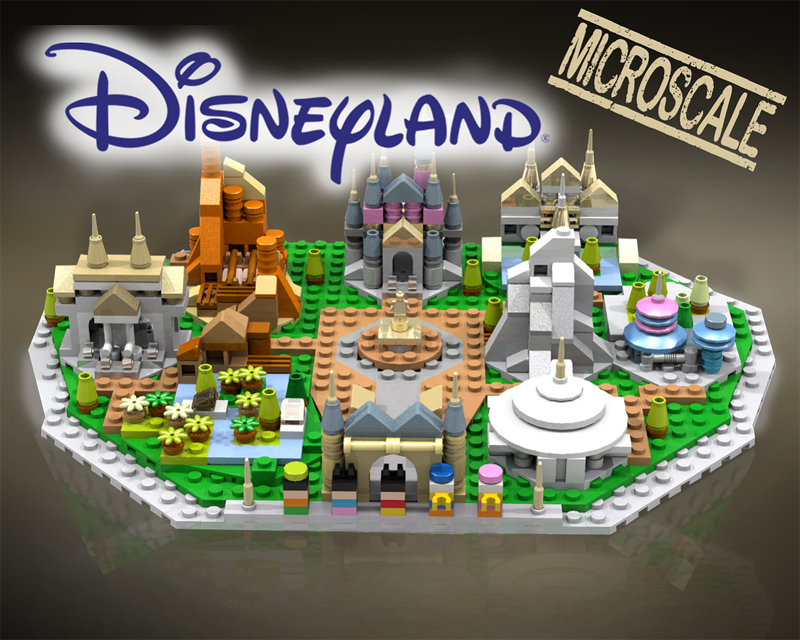 Check Out This Fun Micro-Scale LEGO Disneyland MOC on LEGO Ideas