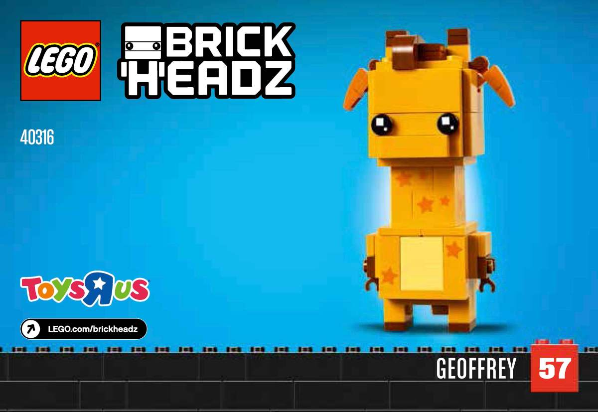 Build Your Own LEGO BrickHeadz Geoffrey (40316) With These Building Instructions