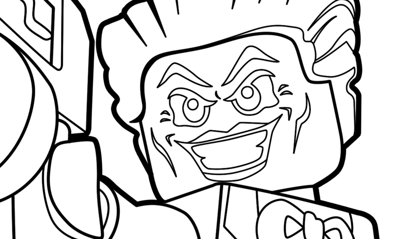 LEGO DC Super-Villains Printable Coloring Pages