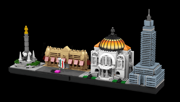 Custom Mexico City Architecture Set