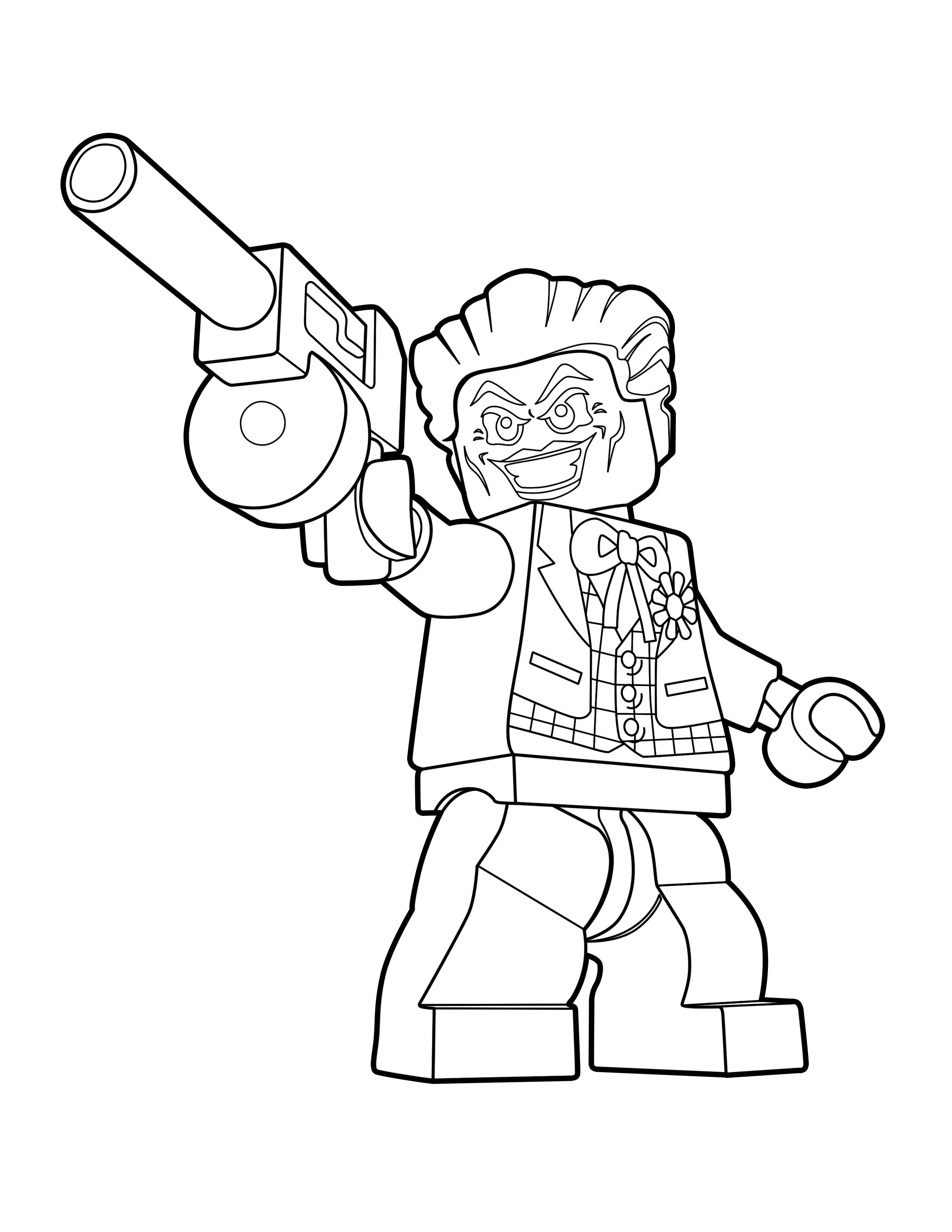 LEGO Joker Color Page - LEGO DC Super-Villains - The Brick Show