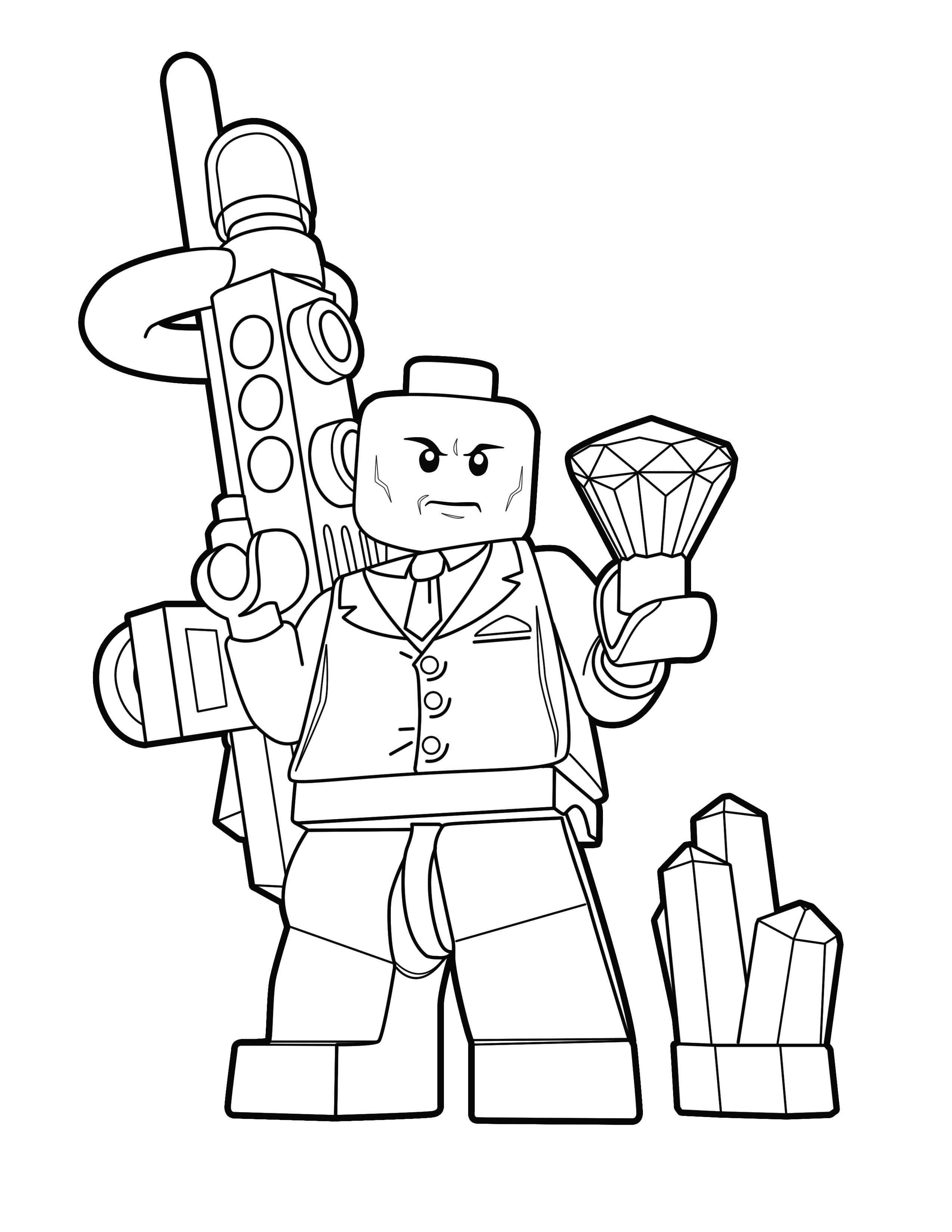 Lego Lex Luthor Color Page Lego Dc Super Villains The Brick Show