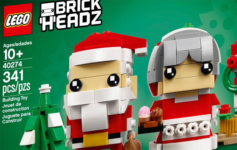 LEGO BrickHeadz Thanksgiving Turkey (40273) and Mr. and Mrs. Claus (40274) Officially Announced