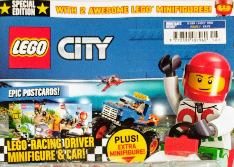 Lego City Pilot mini figure FREE POST