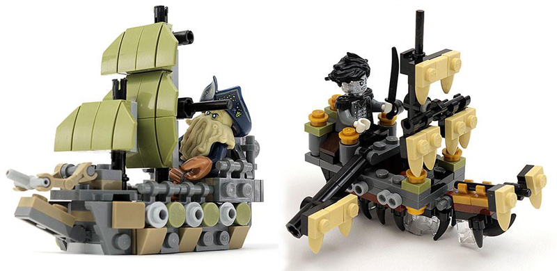 Custom LEGO Pirate Ships