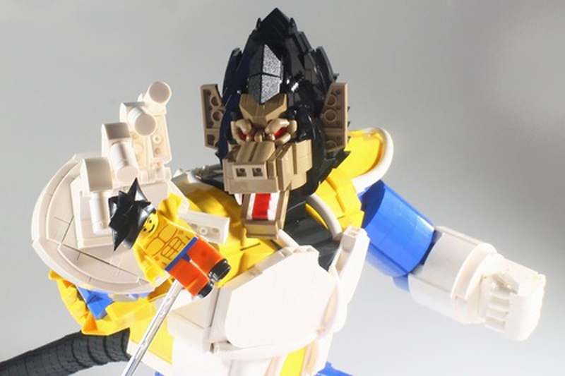 It May Not Be Over 9,000 Bricks, But This Brick-Built Vegeta in Great Ape Form Is Jaw-Dropping