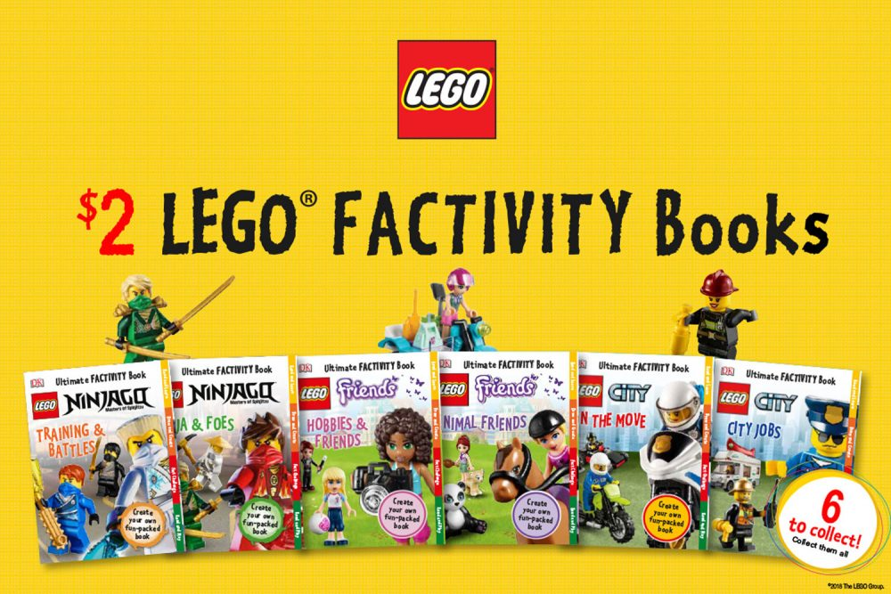 DK LEGO Factivity Books Available for Additional $2 with Magazine Purchases in Woolworths, Australia