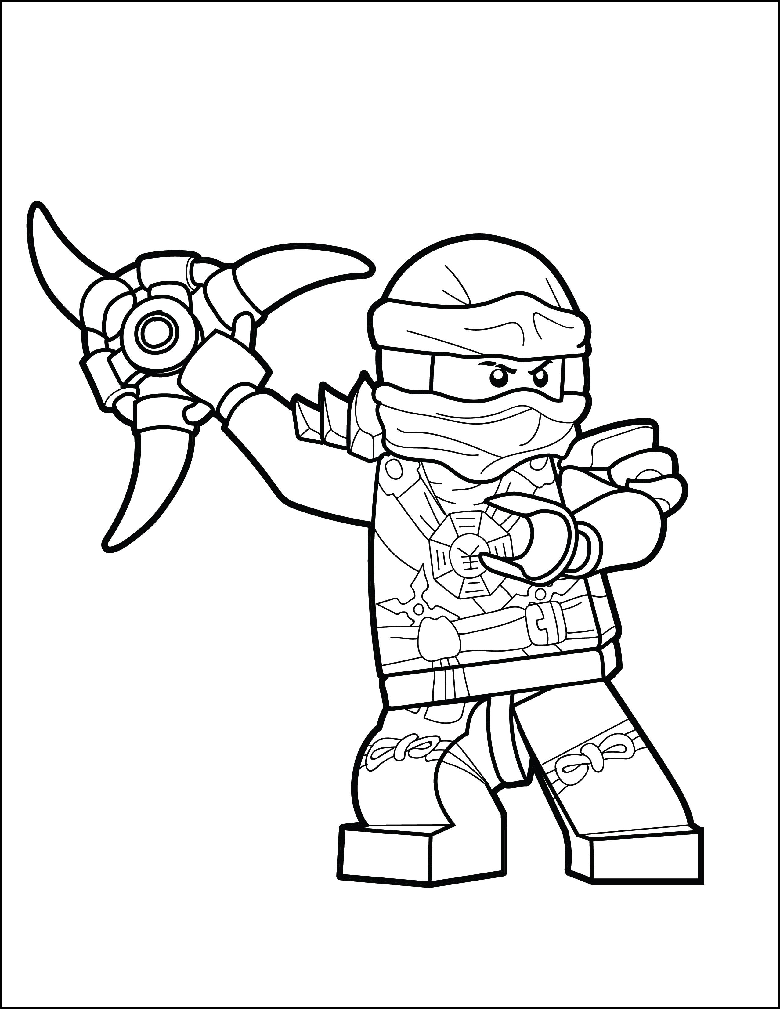 lego ninjago coloring page - jay