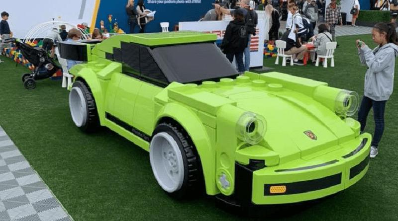 life-sized LEGO Speed Champions Porsche 911 Turbo