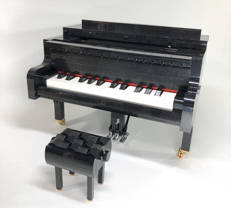 NEW LEGO GRANDMA playing PIANO minifig minifigure musical instrument keyboard