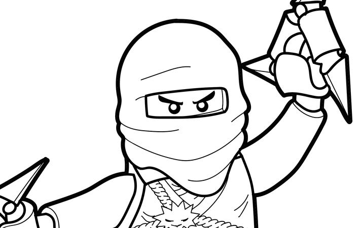 LEGO Ninjago Coloring Page – Zane