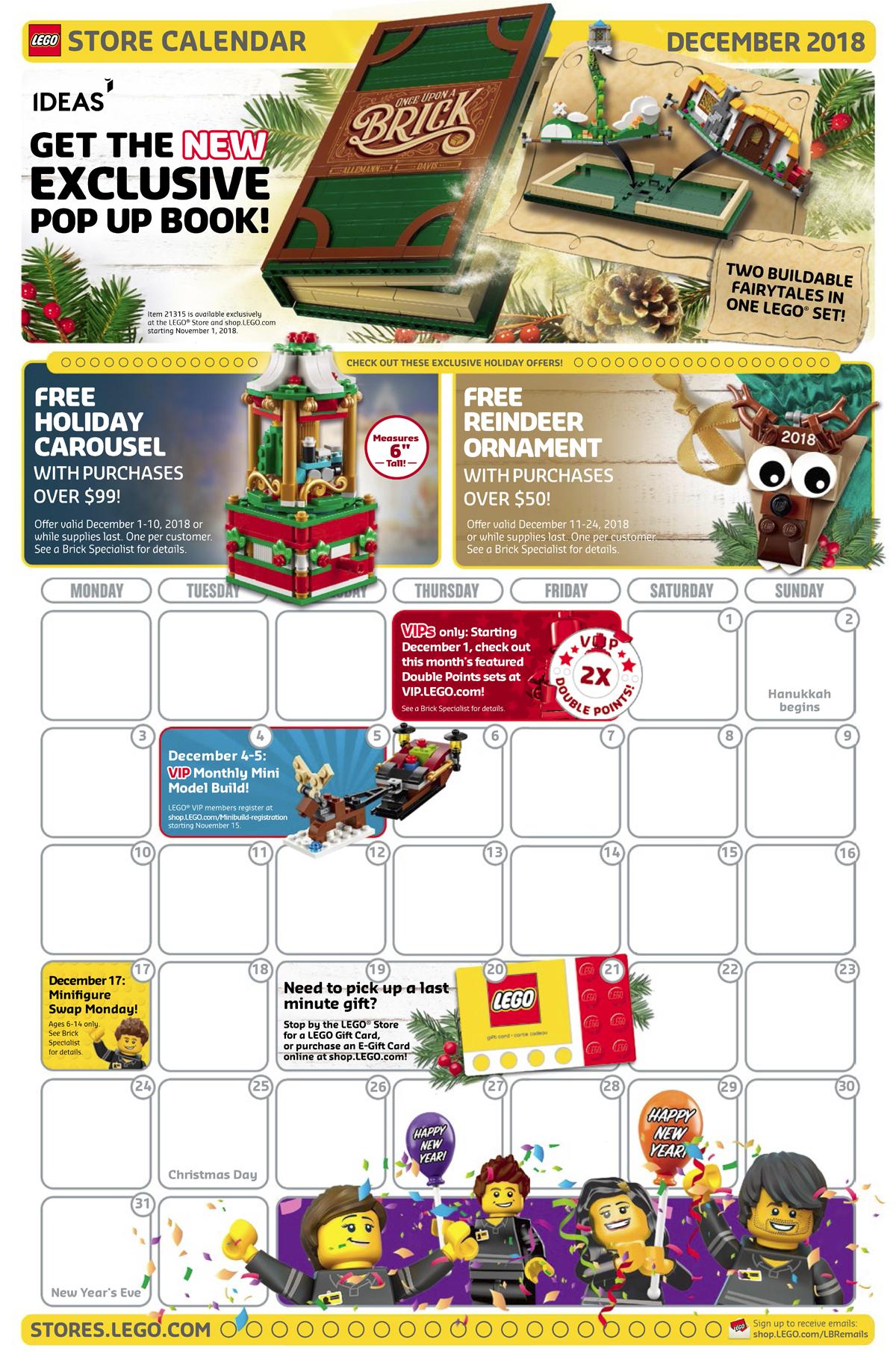 December 2019 Calendar Lego LEGO Store Calendar Archives   The Brick Show