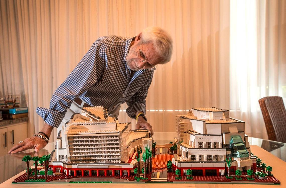 81-Year-Old Proponent of Miami's Adrienne Arsht Center Recreates Building with LEGO