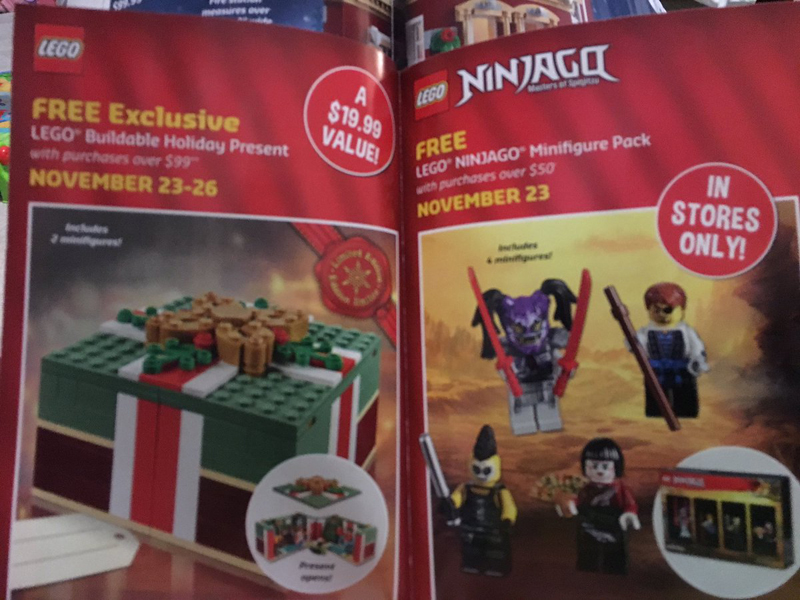 LEGO Store Black Friday Free Exclusives Revealed