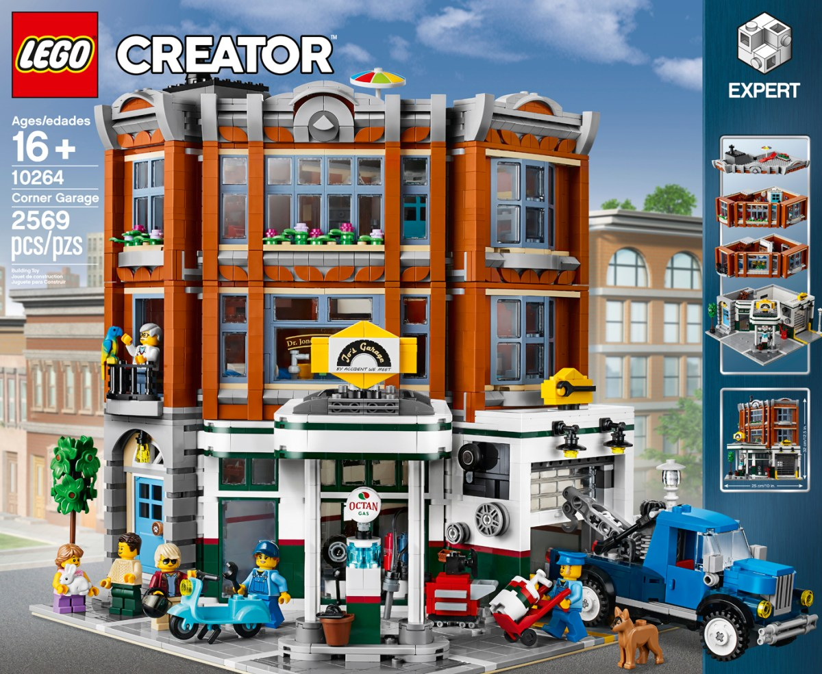 2019's LEGO Modular Set is the LEGO Creator Expert Corner Garage (10264)