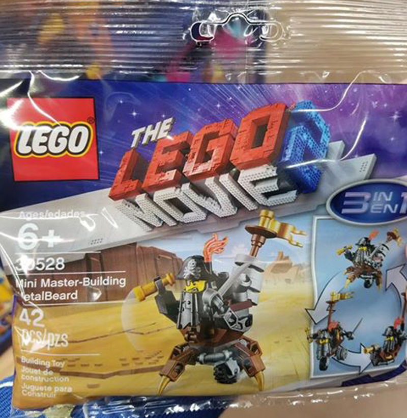 SPOTTED: New LEGO Movie 2 Mini Master-Building MetalBeard (30528) Polybag