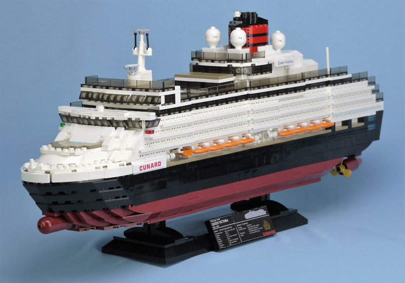 LEGO Ideas Queen Victoria Cruise Ship Gets 10K Support