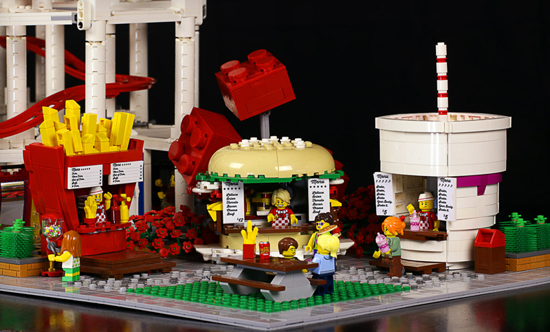 LEGO Ideas Product Idea Food Stand Diners Gets 10K Thumbs Up
