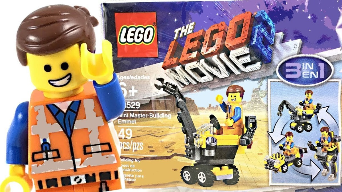 The LEGO Movie 2 Polybags Now Available Online and in UK LEGO Stores for £35 Minimum Purchase: Mini Master-Building Emmet (30529) and Rex Dangervest Plantimal Ambush (30460)