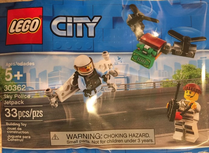 Spotted New Lego City Sky Police Jetpack 30362 Polybag
