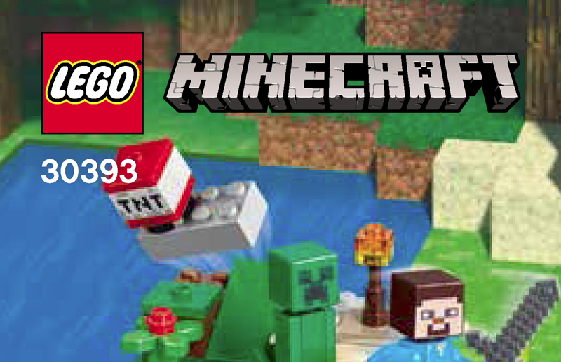 LEGO Introduces its First LEGO Minecraft Steve and Creeper (30393) Polybag