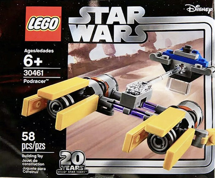 Lego poly bag 30461 star wars podracer edition 20 years new