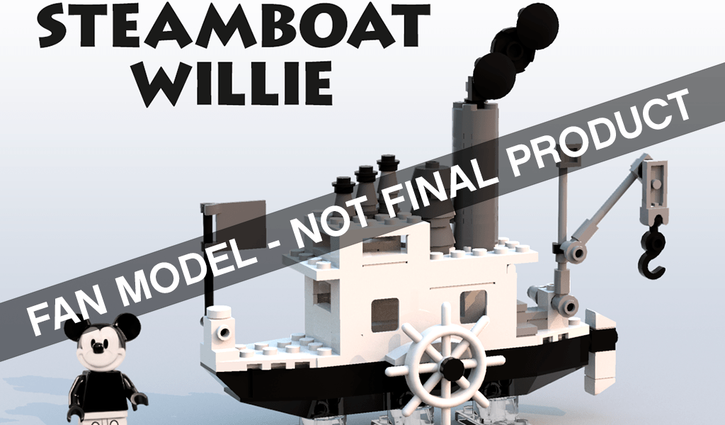 Teaser for LEGO Ideas Steamboat Willie (21317) Released Less than a Month after Passing Review