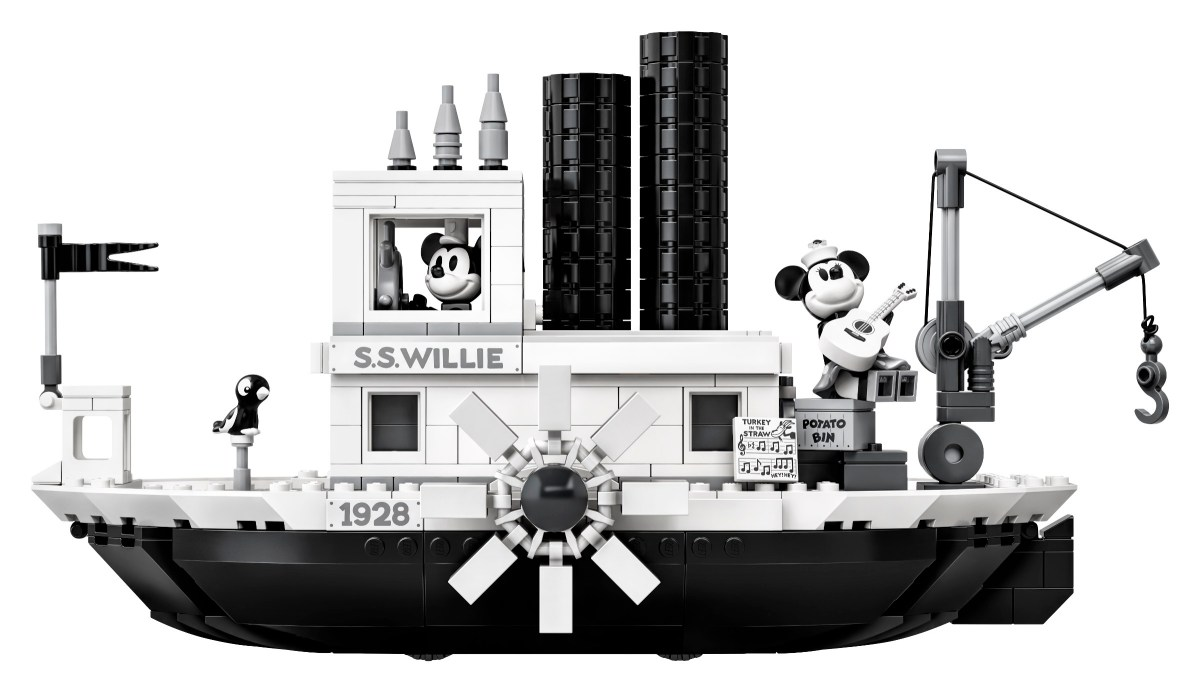 LEGO Acknowledges Ideas Numbering Error on Steamboat Willie (21317), Plus Set Signing Events at Disney Parks in April