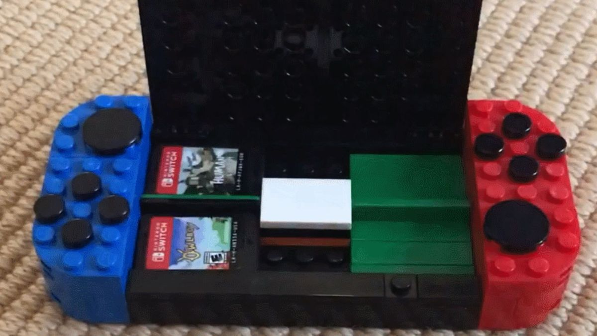 Nifty MOC Featured on Reddit: Nintendo Switch-Shaped Game Card