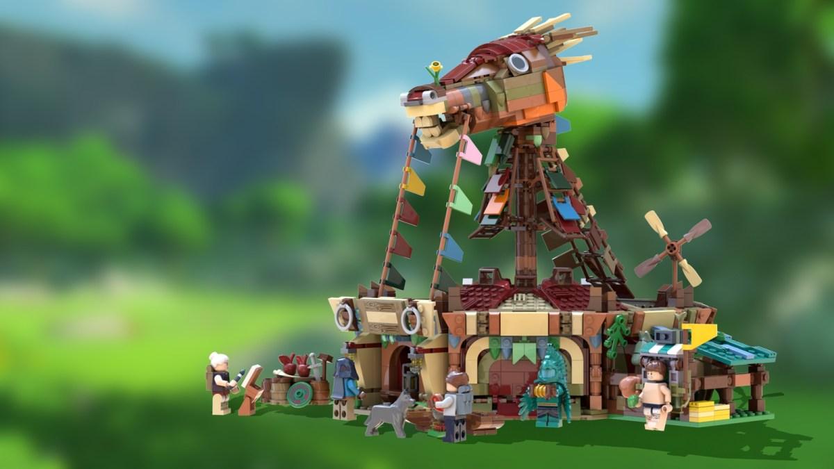 "Ideas Submission ""Legend of Zelda: BOTW"" Stable Seeks Support to Become Major Nintendo-Licensed LEGO Set"
