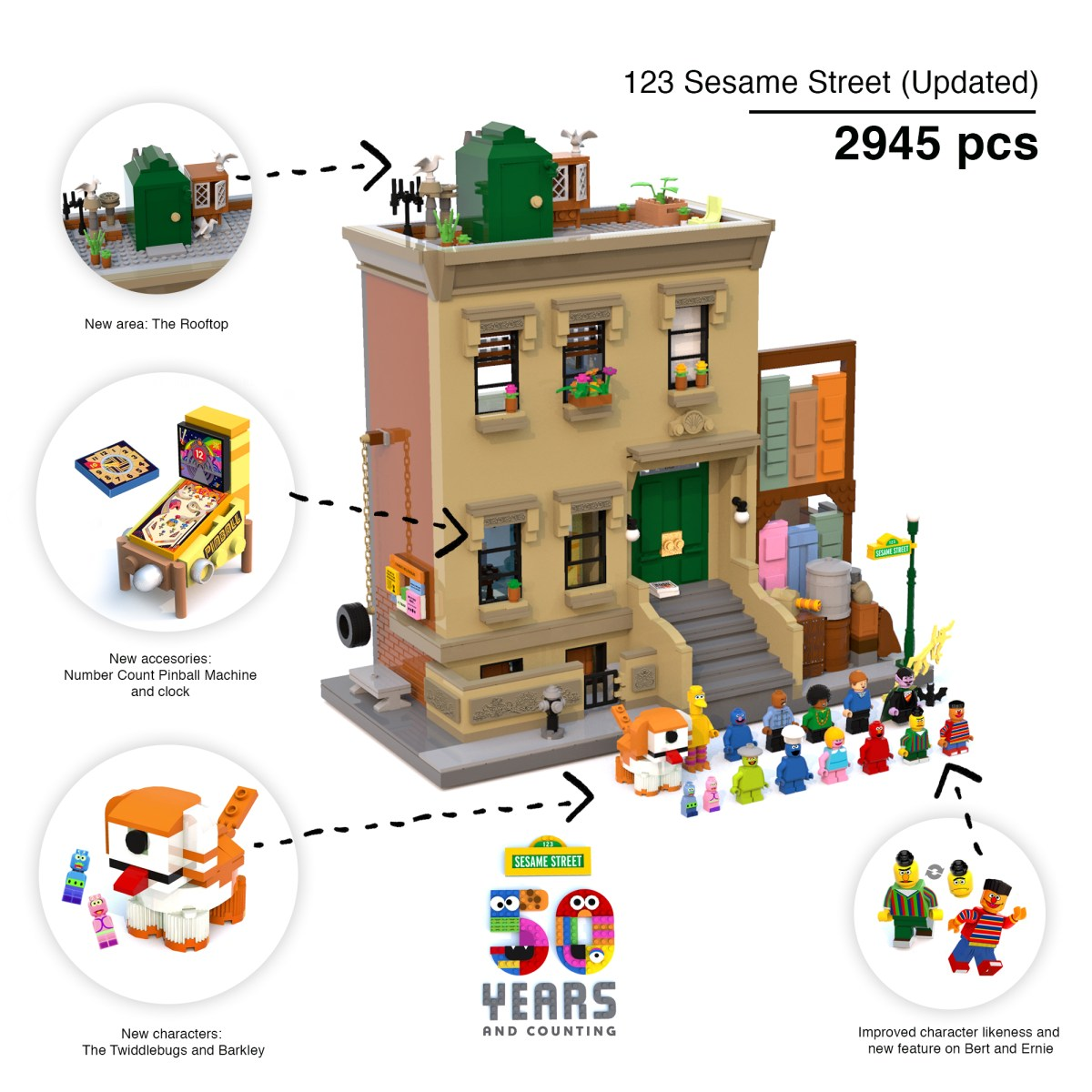 123 Sesame Street by Ivan Guerrero Finally Makes 10-K Support on LEGO Ideas