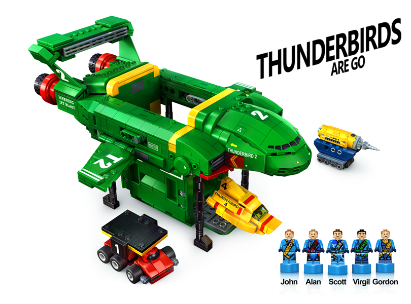 """LEGO Ideas Flintstones (21316) Creator Andrew Clark's Other Submission: """"Thunderbirds are Go"""" Needs 2-K More Support, with 80+ Days Left"""