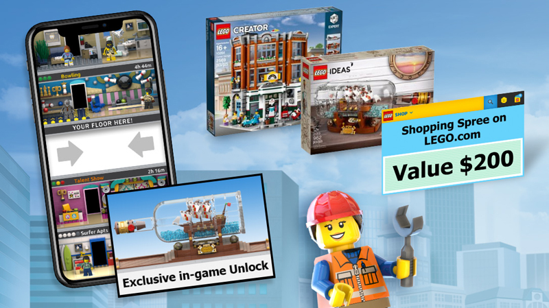 Check Out These Winners for the LEGO Ideas Design A Virtual Floor Contest for the LEGO Tower Mobile Game