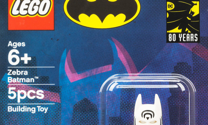 Exclusive LEGO DC Comics Zebra Batman SDCC 2019 Minifigure Revealed