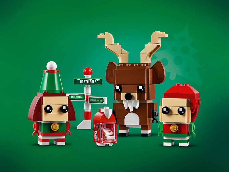 Seasonal LEGO BrickHeadz Reindeer, Elf & Elfie (40353) Revealed