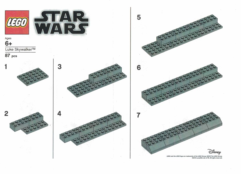 LEGO Star Wars Luke Skywalker Timeline