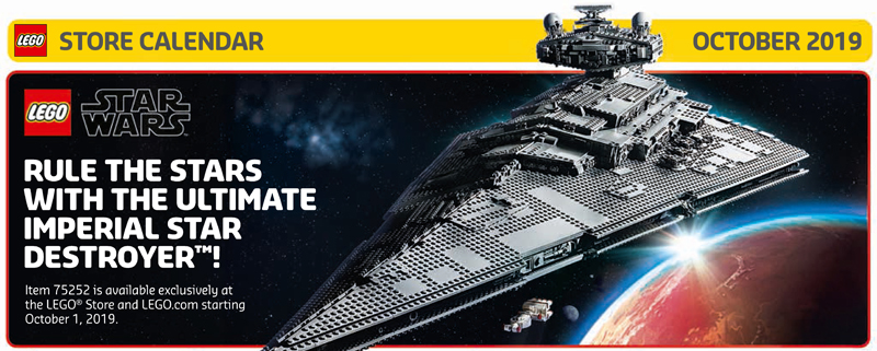 October 2019 LEGO Store Calendar Celebrates Triple Force Friday