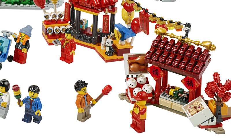 LOOK: The LEGO Chinese New Year Temple Fair (80105) Officially Revealed