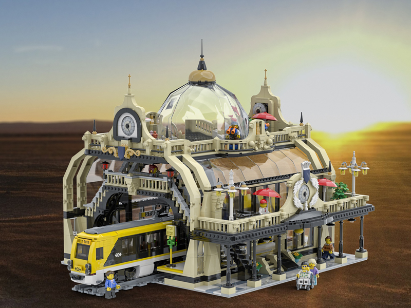 LEGO Ideas The Train Station: Studgate Gets 10K Support