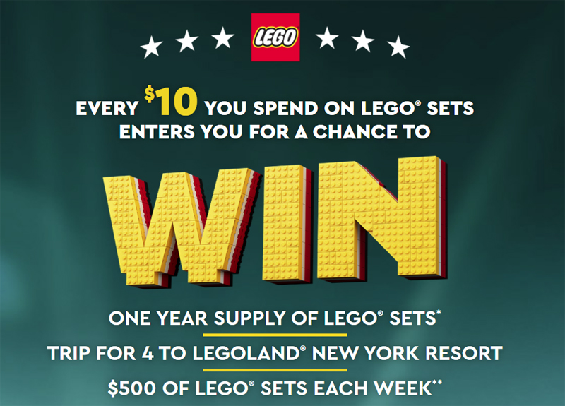 LEGO Masters US Sweepstakes Gives You a Chance to Win a Year's Supply of LEGO