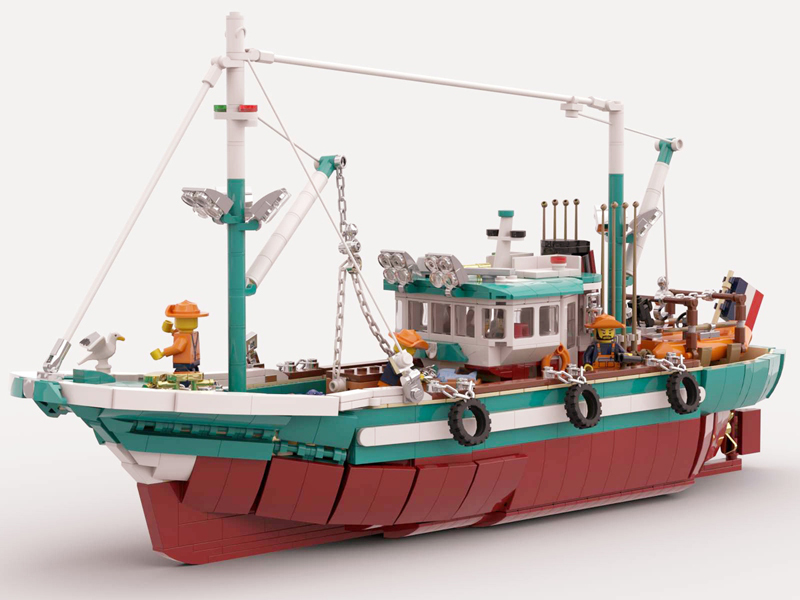 LEGO Ideas The Great Fishing Boat Enters First 2020 Review Stage