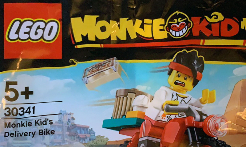 LEGO Monkie Kid's Delivery Bike (30341) Polybag Arriving Soon