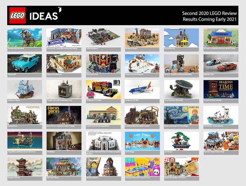 The Second 2020 LEGO Ideas Review Stage Features a Record-Breaking 35 Product Ideas