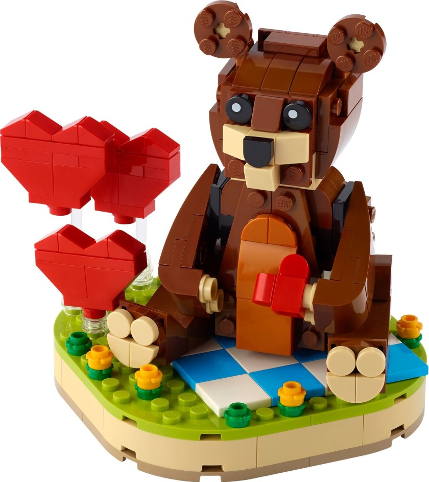 LEGO Valentine's Brown Bear